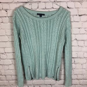 American Eagle Turquoise Knit Sweater Size Small